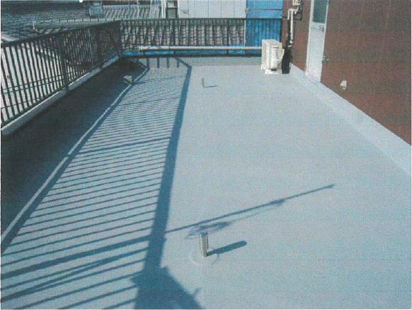 ポリマーセメント系塗膜防水:施工後