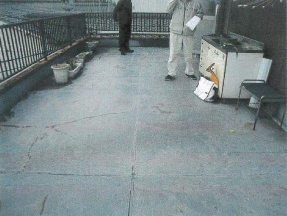 施工前:ウレタン防水下地